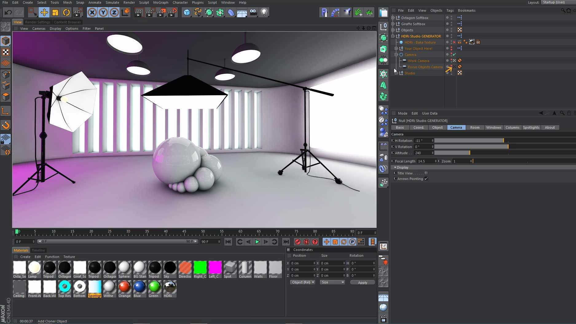 HDRi Studio GENERATOR Tool For Cinema 4D – Mustapha FERSAOUI